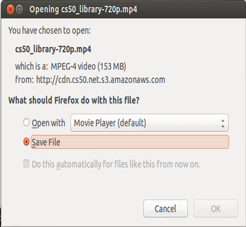 firefox popup - confirm or reject file save or open
