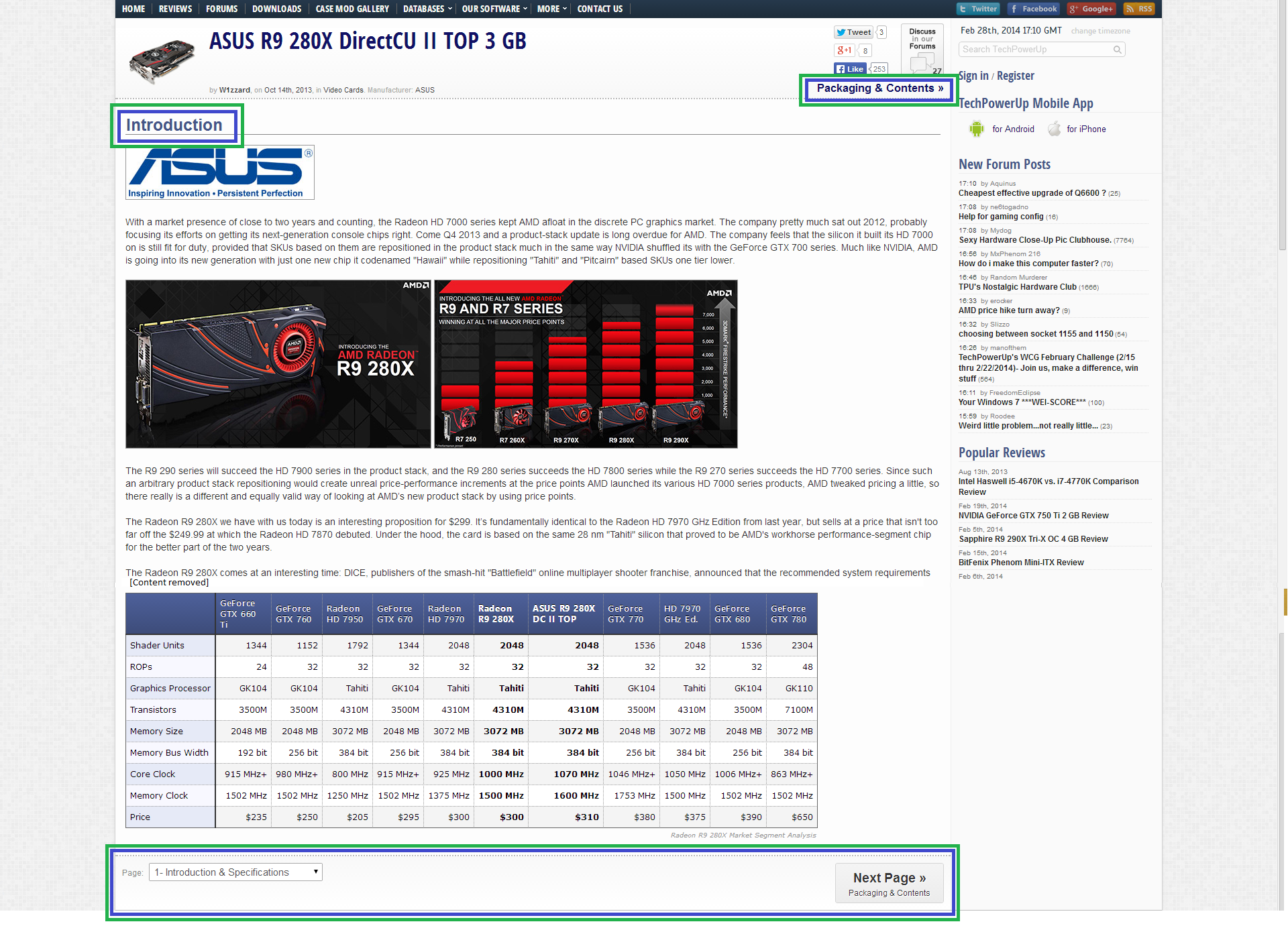 a screenshot showing a multi-section article on Tech Power Up