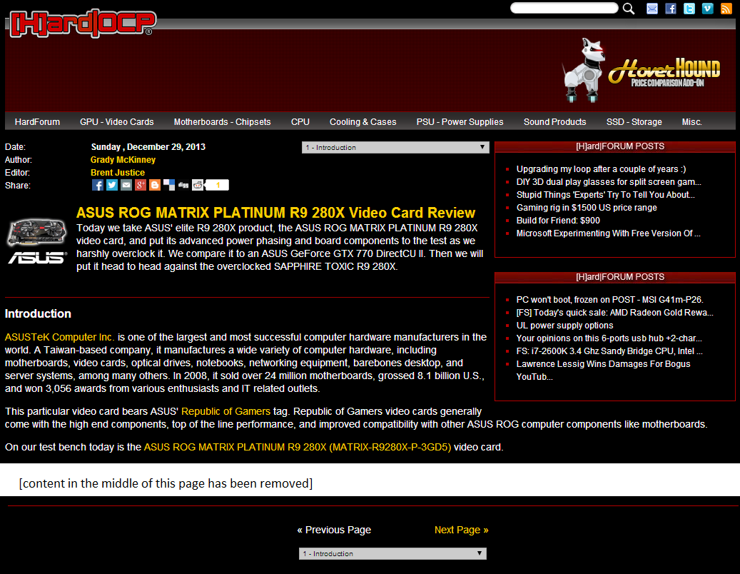 screenshot of a hard ocp multi-section article highlighting the navigation
