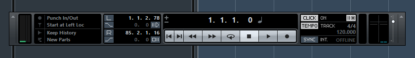 Cubase AI monitor showing no input