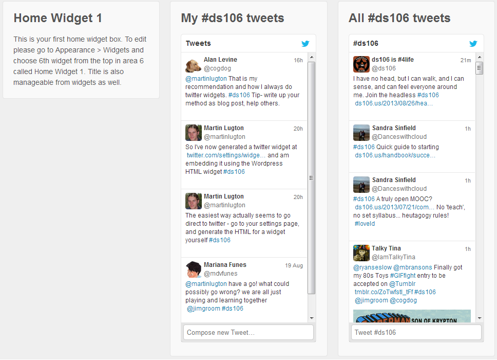 How to add a twitter feed to your wordpress site - Martin ...