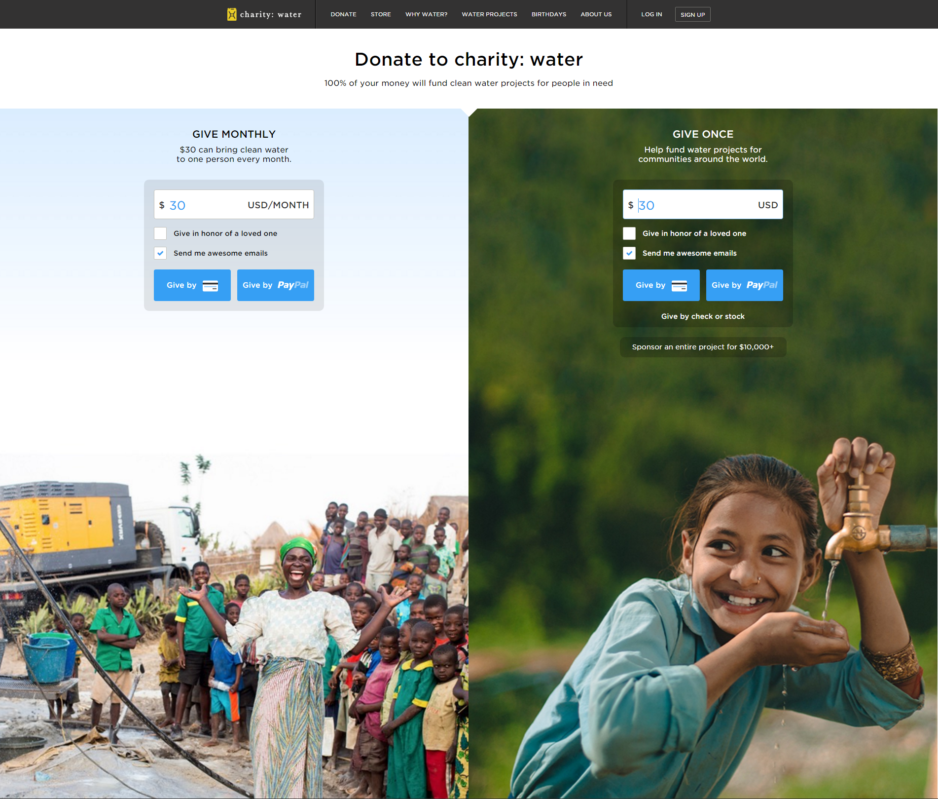 charity water card 1
