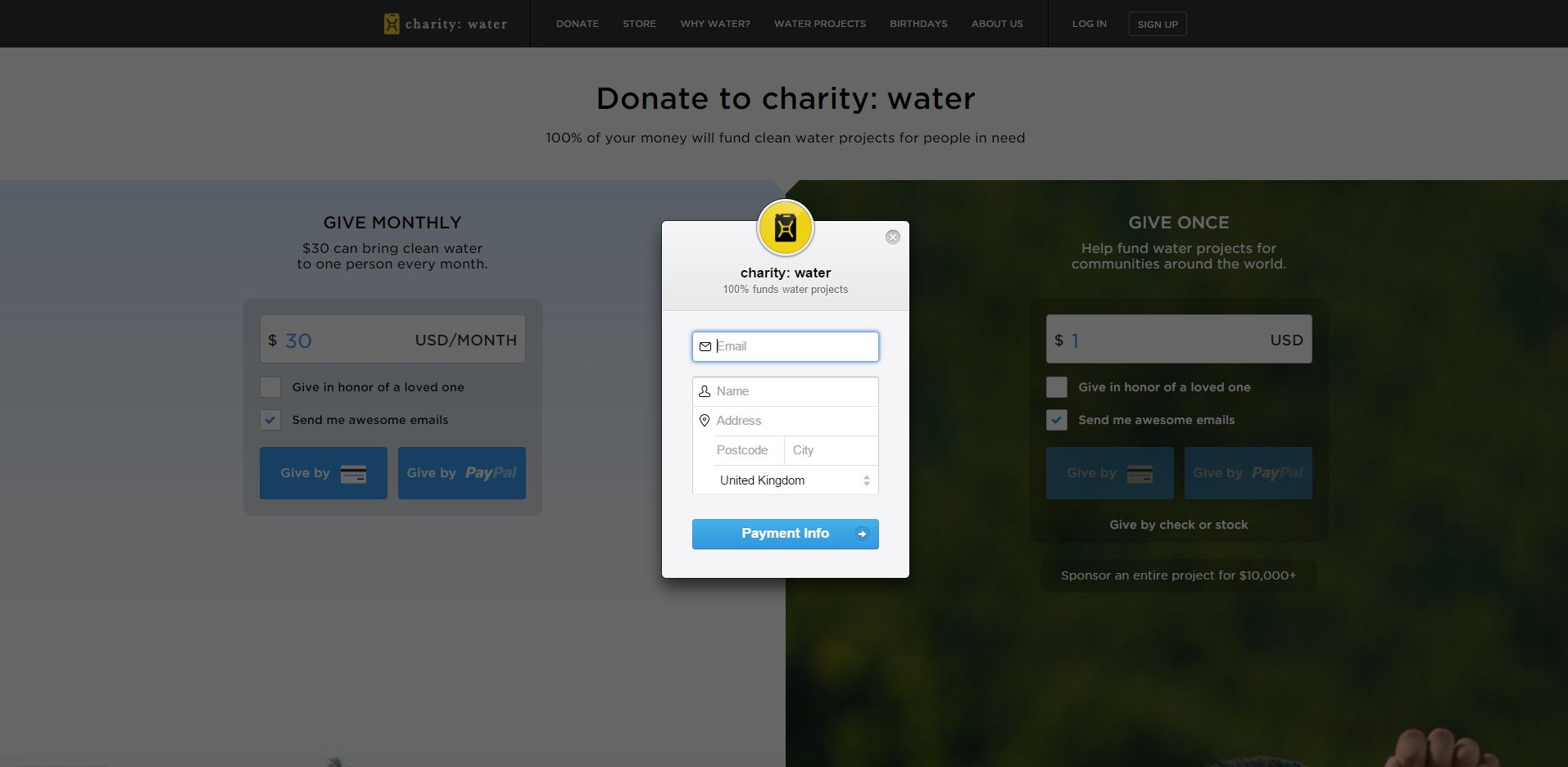 charity water card 2