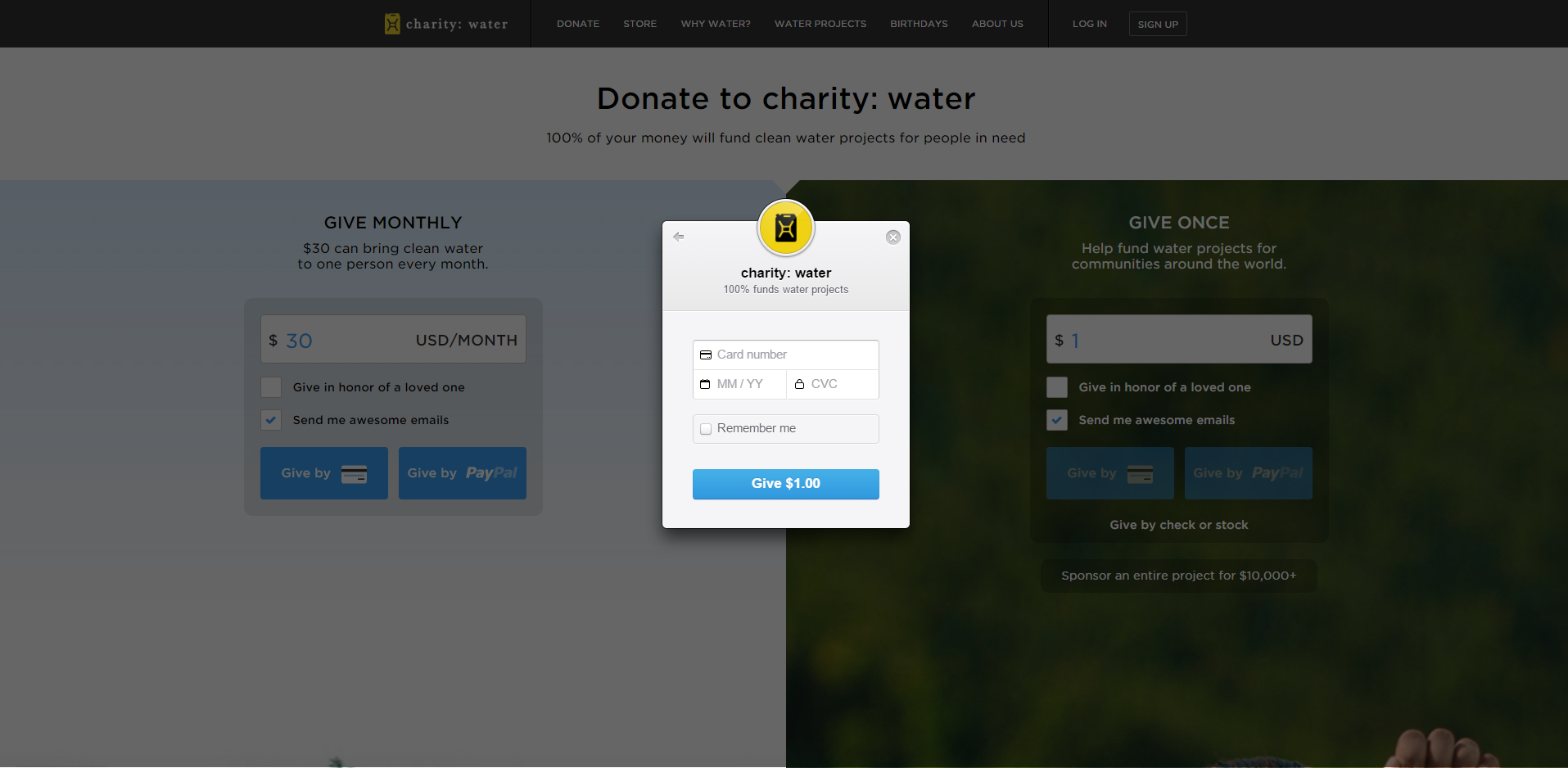 charity water card 3